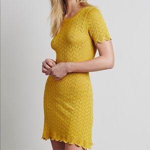 {For Love & Lemons} Yellow Knitz Dress